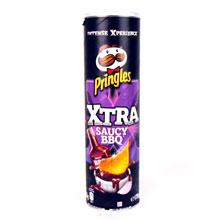 PRINGLES XTRA SAUCY BARBACUE 175 GRS