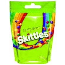 SKITTLES CRAZY SOUR POUCH 174 GRS
