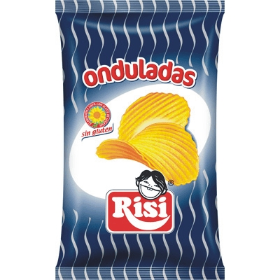 PATATAS ONDULADAS RISI 100 GRS 9 UDS