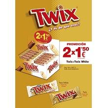 LOTE TWIX+TWIX BLANCO 2X1,5€ 50 UDS