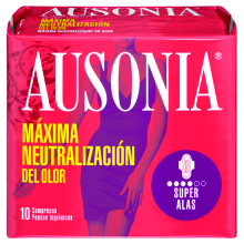 COMPRESAS AUSONIA SUPER ALAS 12 UDS
