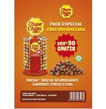 CHUPA CHUPS RUEDA 200 UDS + BOLSA 30 GRA