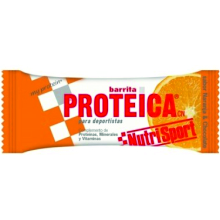 BARRITA NUTRISPORT PROTEICA NARANJA 24U