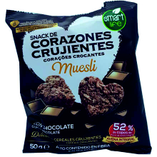 CORAZON CRUJIENTE CHOCOLATE 50G 15UDS