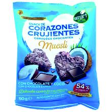 CORAZON CRUJIENTE CHOCO/COCO 50 GR 15UDS