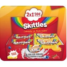 LOTE SKITTLES FRUTA+SMOOTHIES 2X1,30 28U