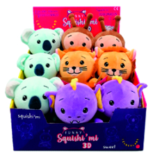 PELUCHES FUNNY SQUISHIMI 3D 12UDS